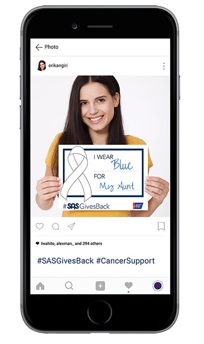 Everyone is affected by cancer in one way or another, and there are many forms. During the month of October, SAS will donate to the American Cancer Society for each share.